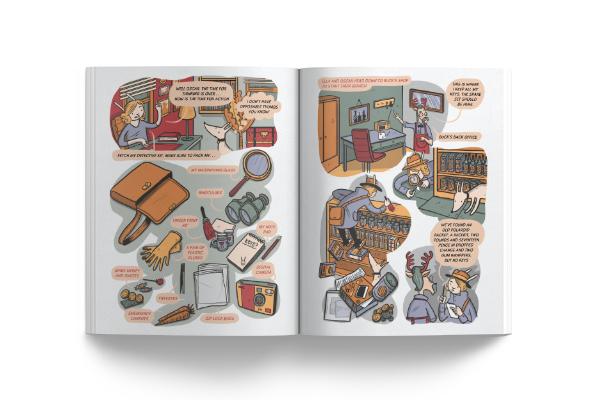 História em Quadrinhos - Ella Bella Bunny Detective
