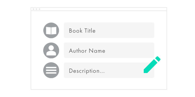 Step 2: Create Your Book Listing></div>     <div class=