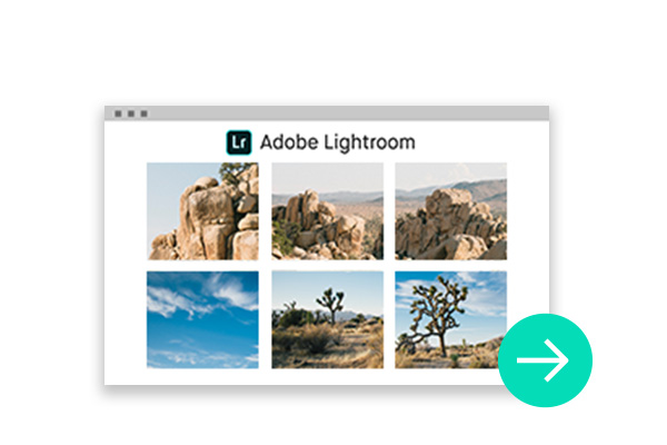 Foto Lightroom CC per i layout del libro