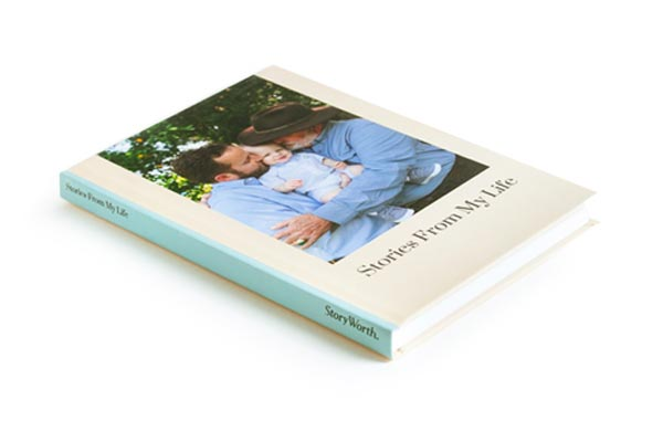 Storyworth prints family stories in Blurb's standard Trade Book format