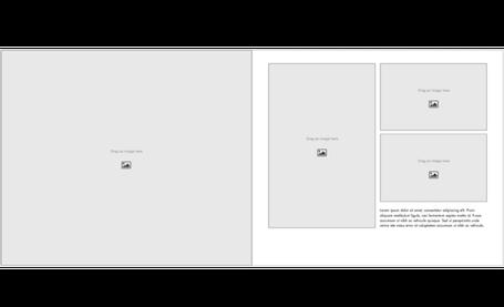 Portfolio-Vorlagen - Querformat